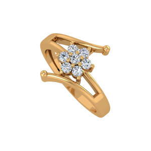 Beyond Floral Gold Diamond Ring