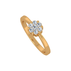 The Lovely Flower Gold Diamond Ring
