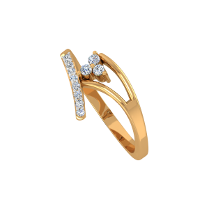 The Golden Tripod Gold Diamond Ring