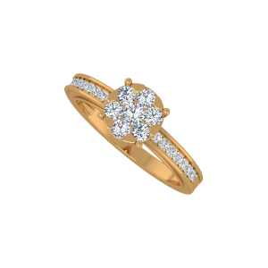 The Love Pattern Gold Diamond Ring
