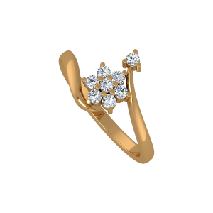Flower It Up Gold Diamond Ring