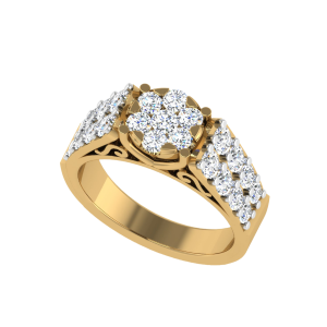 The Floral Engagement Bespoke Diamond Ring