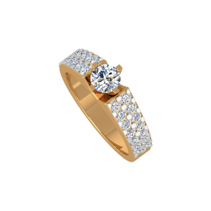 The Eye Spy Solitaire Gold Diamond Ring