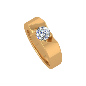 The Super Solitaire Gold Diamond Ring
