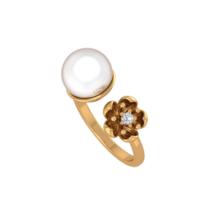 Pearl Possessed Gold Diamond & Pearl Ring