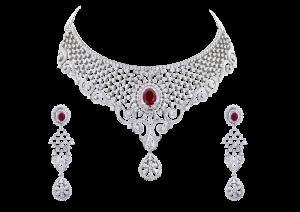 Phenomenally Shaped Dangling Diamond Necklace