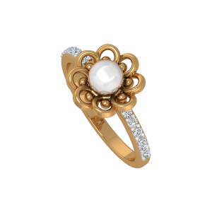 Blossom Pearl Gold Diamond & Pearl Ring