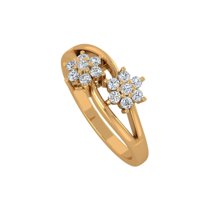 Floral Explorer Gold Diamond Ring