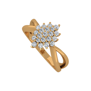 The Star Array Gold Diamond Ring