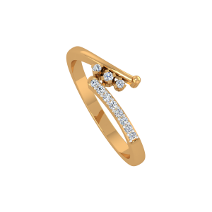 The Mystery Flow Gold Diamond Ring