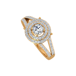 The Dream Solitaire Gold Diamond Ring