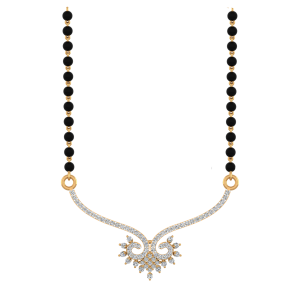 Glory Flair Mangalsutra With Black Beads Gold Chain