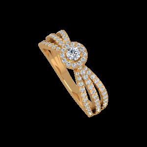 The Million Likes Gold Diamond Ring
