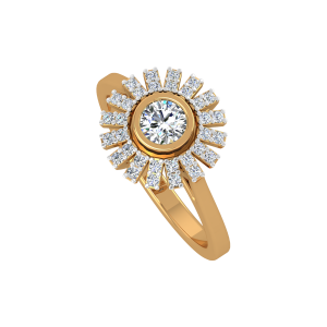 The Sunburst Gold Diamond Ring