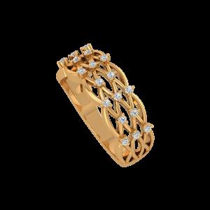 The Heavens Gold Diamond Ring