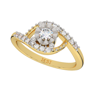 The Miraculous Round Gold Diamond Ring