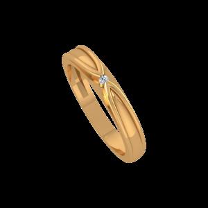 The Sassy Band Gold Diamond Ring