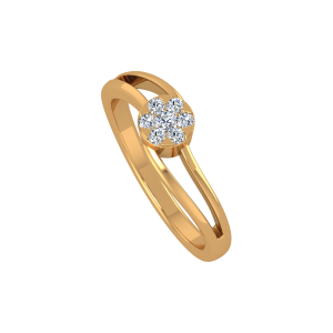 Catch The Flash Gold Diamond Ring