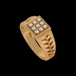 The Perfect Nine Gold Diamond Men's Ring