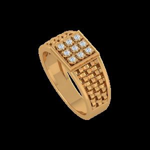 The Diamond Mat Gold Diamond Ring