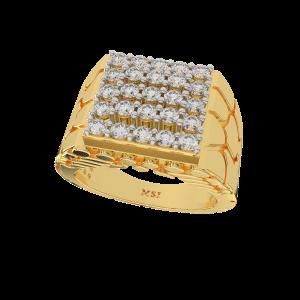 The Macho Matrix Gold Diamond Mens Ring