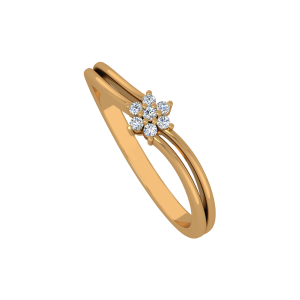 The Floral Perfection Gold Diamond Ring