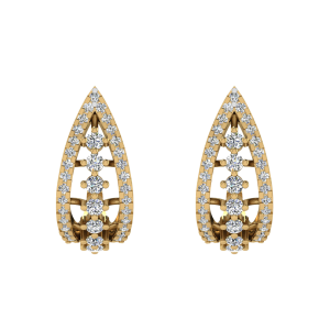 The Charming Fashion Diamond Stud Earrings