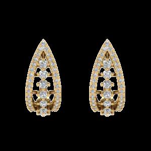 The Charming Fashion Diamond Stud Earrings