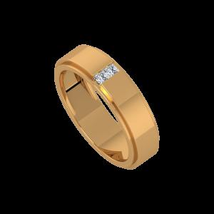 The White Streak Gold Diamond Ring