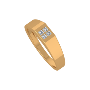 The Four Squares Gold Diamond Ring