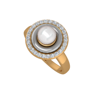 The Prime Pearl Gold Diamond & Pearl Ring
