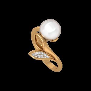 The Mermaid Gold Diamond & Pearl Ring