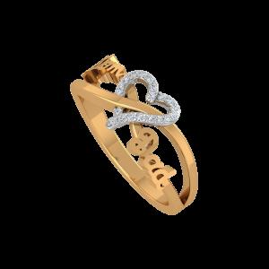 Love & Life Gold Diamond Ring