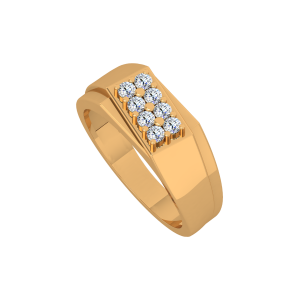 The Clear Convoy Gold Diamond Men's Ring