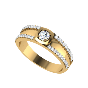 Twin Lustre Solitaire Diamond Ring