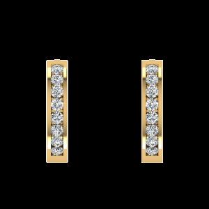 Stars Of The Heaven Diamond Hoop Earrings