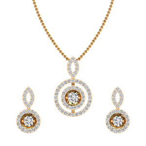 The Beautiful Glaze Diamond Pendant Set