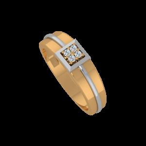 The Club Square Gold Diamond Men's Ring