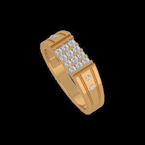 Raise A Toast Gold Diamond Men's Ring