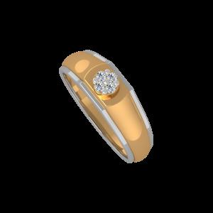The Solo Fame Gold Diamond Men's  Ring