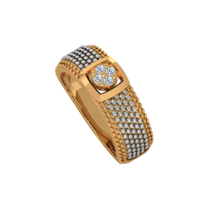 The Macho Manly Gold Diamond Men's Ring