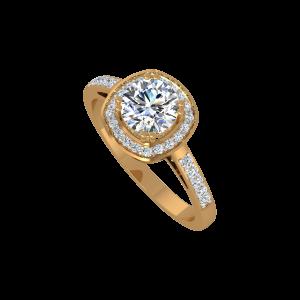 The Entourage Drama Gold Diamond Ring