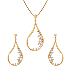 The Organic Feast Diamond Pendant Set