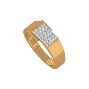 The Iconic Gold Diamond Men's Ring
