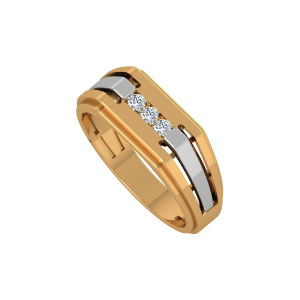 The Vogue Glow Gold Diamond Ring