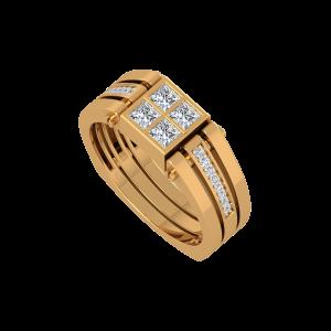 The Grace Lace Gold Diamond Mens Ring