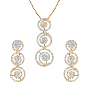 The Magical Spinning Diamond Pendant Set