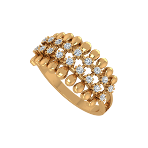 Fashion Play Gold Diamond Ring