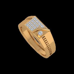 Chic N Shine Gold Diamond Men's Ring