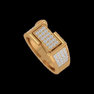 Frame Up Gold Diamond Men's Ring